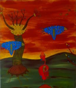 migrations    acrylique  sur toile 60X73